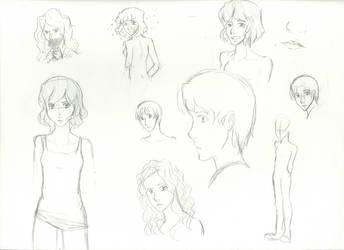 Sketches n' stuff (Lotsa faces) by P4nda-Ch4n
