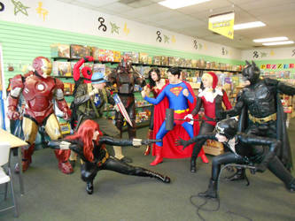 H.E.R.O.I.C. on Free comic book day by Silver-Fyre