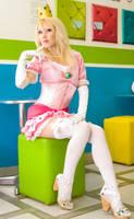 +Princess Peach Pin Up+ by MolecularAgatha