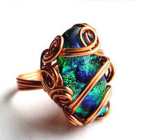 Mermaid's Looking Glass Ring by sojourncuriosities