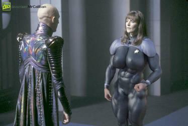 Star Trek Nemesis Counselor Troi vs Shinzon by MRCALIBAN