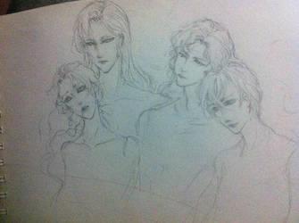 The Shitennou/Four Generals by DarkKingsLove