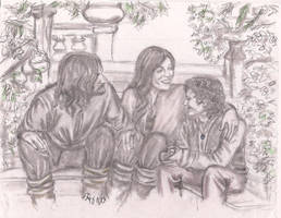 Aragorn, Arwen, Frodo by rstrider9