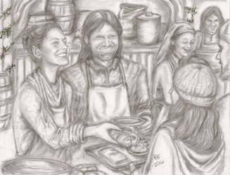 Yule in Gondor:  Serving Gondor by rstrider9