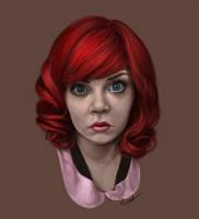 Portrait Practice 1 by Rechka