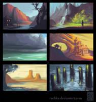 Environment Thumbnails by Rechka