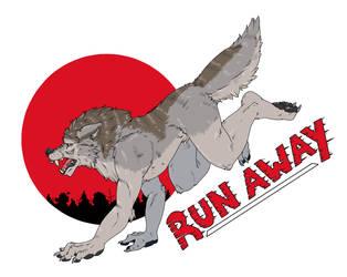 Run away Werewolf by SierraAshura