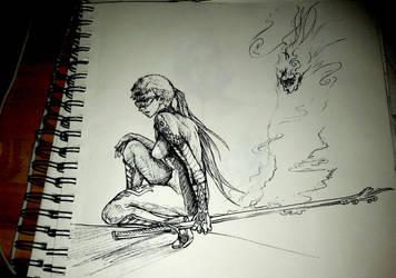 Sketch-Doodle: Concept  CyberNinja? by Marto