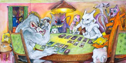 Pokemon Playing Magic the Gathering by Marto