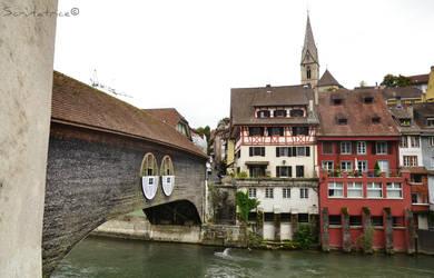 Wood bridge in Baden by Scrutatrice