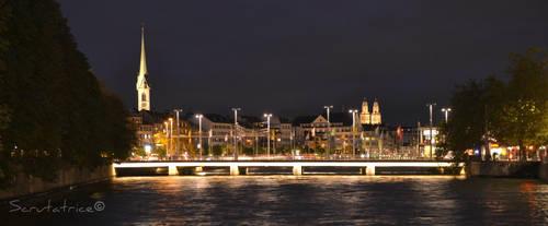 Zurich #2 - By night by Scrutatrice