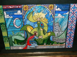 Beauty and Beast Stain Glass by Skihaas1
