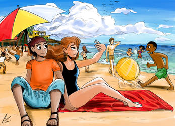 Day At The Beach by ShadowClawZ