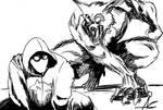 Wolf vs Mad Dog by ShadowClawZ