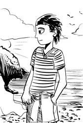 Cody At Beach by ShadowClawZ