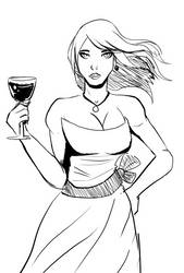 Woman in dress by ShadowClawZ