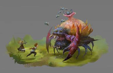Creature concept by ThomasBrissot