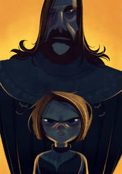 Arya and the hound by JaimePosadas