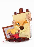 Calvin and Hobbes by JaimePosadas