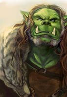 Orc Chieftain by Wulfgnar