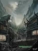 Bligewater town by BADCOMPZERO