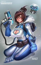 Mei Overwatch by BADCOMPZERO