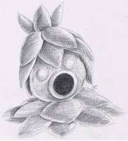 Daily Drawing Day 89 Deku Scrub by MidnightHuntingWolf