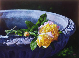 Peace Roses - Oil PAINTING by AstridBruning