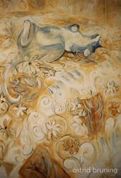 Dreaming - Acrylic by AstridBruning