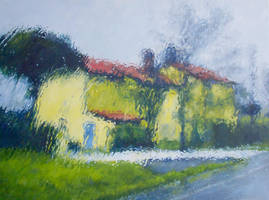 Rainy Day-Veneto -Painting by AstridBruning