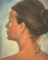Julia - Oil Painting by AstridBruning