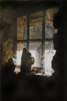 The Shed Window - Oil Painting by AstridBruning
