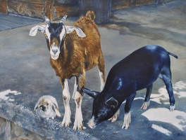 The Loved Ones - Oil Painting by AstridBruning
