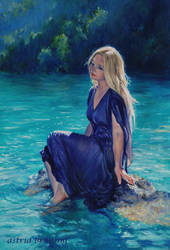Lady of the Lake - Oil Painting by AstridBruning