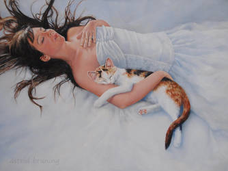Never Alone  - OIL PAINTING by AstridBruning