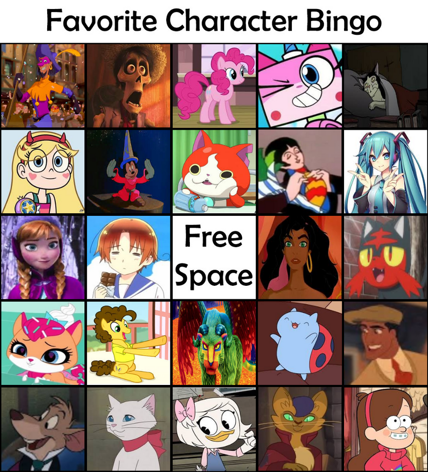 It's just an image of Comprehensive Character Bingo Template