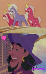 Clopin Thinks the Pastoral Unicorns are Cute by WanderSong