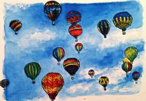 Hot-air baloons by Baleineau