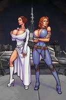 Leia and Mara by boobsgames