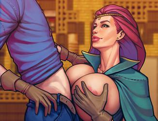 Warlock and boobs: Fun with Fina by boobsgames