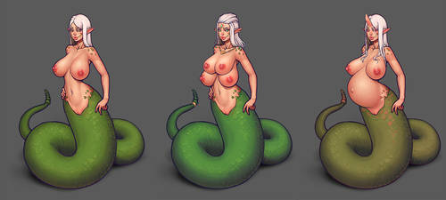 Warlock and boobs: Snakes by boobsgames