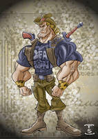 Joe Doogan Zombie Hunter 09 by sapienstoonz