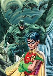 All star Batman Robin tribute by sapienstoonz