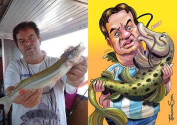 Pescador y caricaturas a pedido open commisions by sapienstoonz