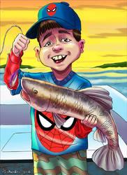 Pescador  aracnido by sapienstoonz