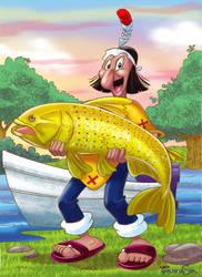 Patoruzu pescador by sapienstoonz