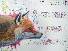 Acrylic Fox by kurawr