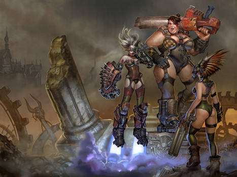 Ladies of Quake 3 arena by Rayph