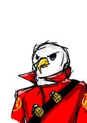 soldier eagle head [tf2] by xXAdAmRoSeXx