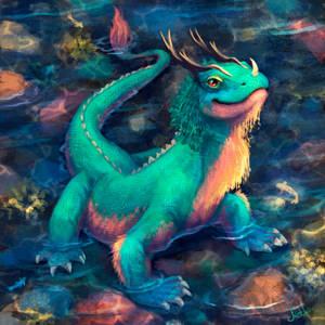 cute little dragon by Mothka